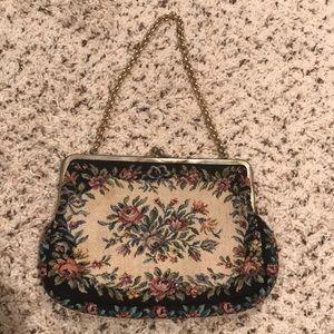 Vintage Tapestry Clutch/Wristlet